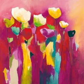Canvas schilderij Townflowers I
