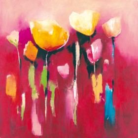 Canvas schilderij Townflowers V