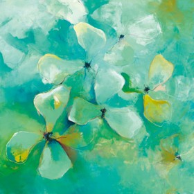 Canvas schilderij Floating Flowers