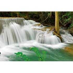 Canvas schilderij Seven-Step Waterfall IV,Erawan