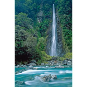 Canvas schilderij Thunder Creek Falls