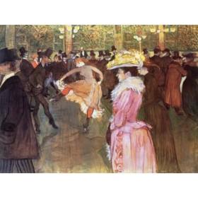 Canvas schilderij Ball im Moulin Rouge