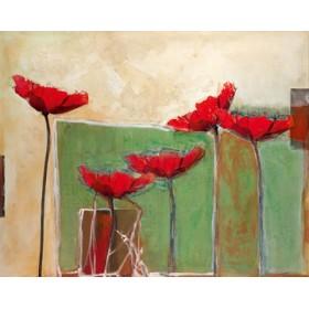 Canvas schilderij Mohn