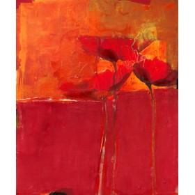 Canvas schilderij Mohnblüte