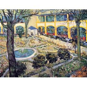 Canvas schilderij Der Garten des Maison de Santè