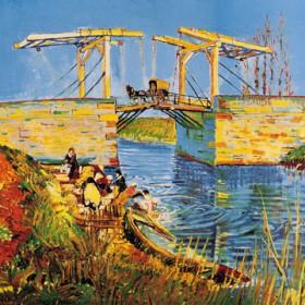Canvas schilderij Die Brücke bei Langlois in Arles