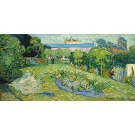 Canvas schilderij Der Garten von Daubigny