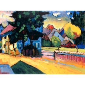 Canvas schilderij Murnau - Studie zu Landschaft
