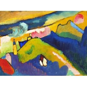 Canvas schilderij Murnau, Berglandschaft