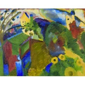 Canvas schilderij Murnau - Garten I