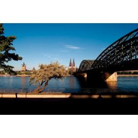 Canvas schilderij Skyline Köln