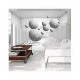 Balls in white - Fotobehang