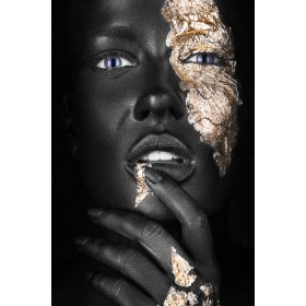Plexiglas schilderij Woman with Gold fotokunst