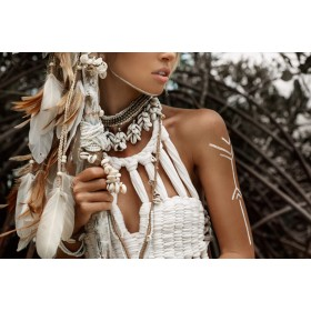 Aluminium schilderij White feathers fotokunst
