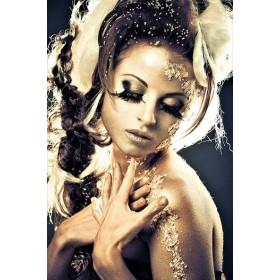 Aluminium schilderij Braided Hair fotokunst