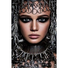 Aluminium schilderij Warrior Princess fotokunst