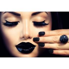 Aluminium schilderij Black Lips fotokunst