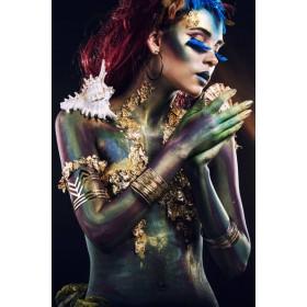 Aluminium schilderij Blue Eyelashes fotokunst