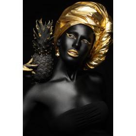 Aluminium schilderij Golden Pineapple