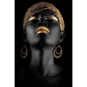 Aluminium schilderij Golden Eye Shadow fotokunst