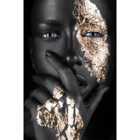 Plexiglas schilderij Woman with Hand fotokunst