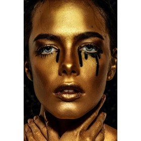 Aluminium schilderij Black Tears fotokunst