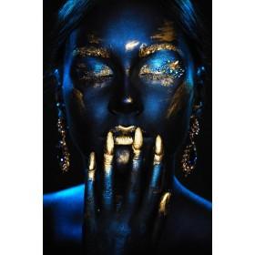 Aluminium schilderij Gold Nails fotokunst