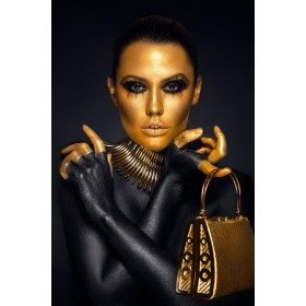 Aluminium schilderij Golden Bag fotokunst