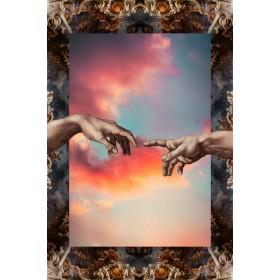 Aluminium schilderij Hands Touching