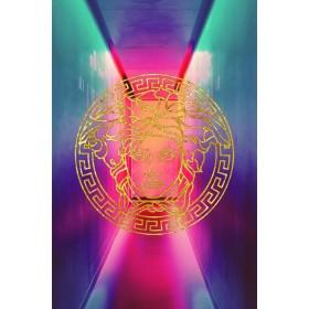 Aluminium schilderij Neon Versace