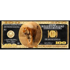 Aluminium schilderij Tiger Dollar fotokunst