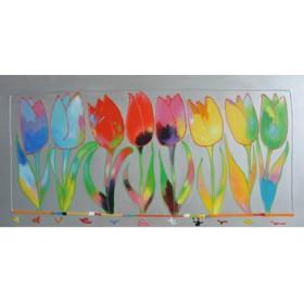 Schilderij Tulpen op een rij