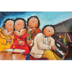 Schilderij Piano spelen