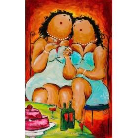 Schilderij Wijntje erbij