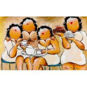 Schilderij Dames in het wit