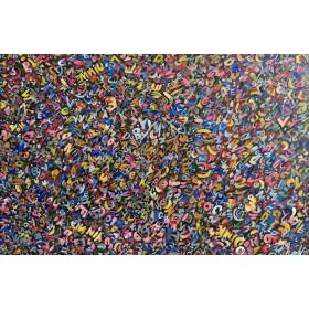 Olieverf schilderij Crazy Talk 120 x 80 cm