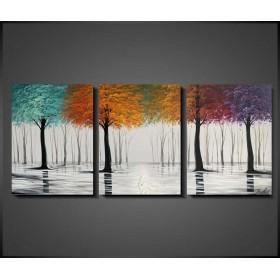 Olieverf schilderij Beauty of the Seasons 180 x 80 cm