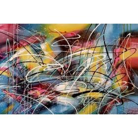 Olieverf schilderij Fantasy 120 x 80 cm