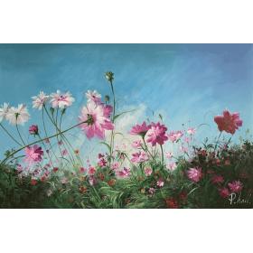 Olieverf schilderij Flowery 120 x 80 cm