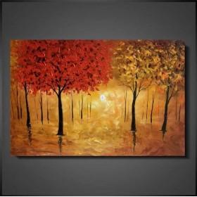 Olieverf schilderij Golden Forest 120 x 80 cm