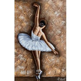 Olieverf schilderij Ballet White 0 x 120 cm