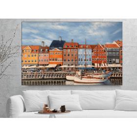 Olieverf schilderij Nyhavn 120 x 80 cm