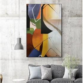 Olieverf schilderij React 120 x 80 cm