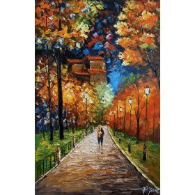 Olieverf schilderij Hyde Park 80 x 120 cm