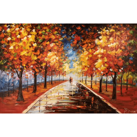 Olieverf schilderij Stressless Park 120 x 80 cm