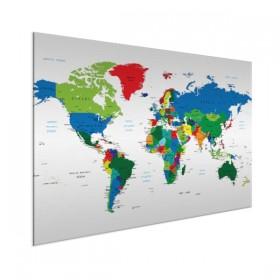 Ongebruikt Wereldkaart schilderijen WW-12