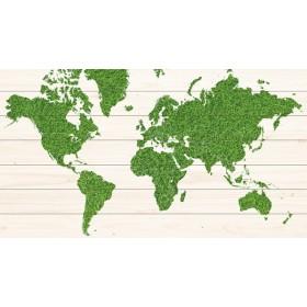 Groene wereldkaart