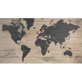 Wanddecoratie Wereldkaart Metaal.Wereldkaart Schilderijen Op Hout Kopen Bij Schilderijen Nl