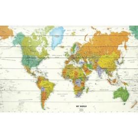 Moderne wereldkaart