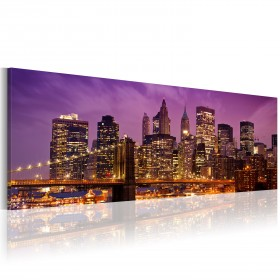 Foto schilderij - Canvas print - Night in New York